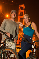 Night time bicycle tours thru San Francisco for America West Mag