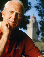 Coach Bill Walsh at Stanford for Time Mag.
