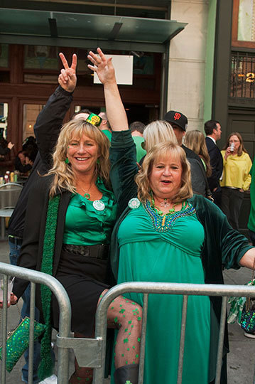 St Patrick's Day on Front St in San Francisco