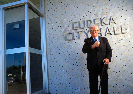 red Moore, Mayor of Eureka, CA, voted Heartburn,  Capital of USA, for Fortune