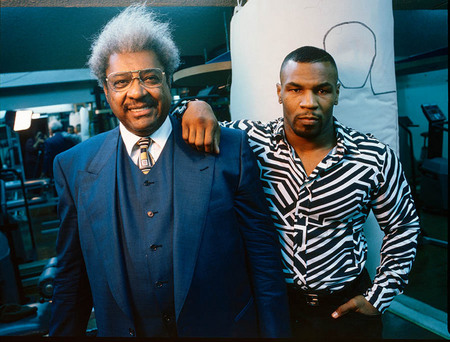 Don King & Mike Tyson at Mikes house in LasVegas