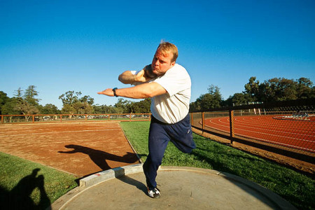 Adam Nelson, shot putter, at Stanford